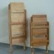 Scaleo in legno a tre o quattro gradini