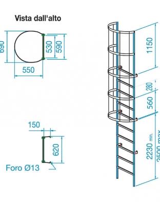 scala gabbia misure