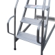 Scala professionale per Elettricisti, Imbianchini e Muratori - Scala a palchetto in acciaio e alluminio