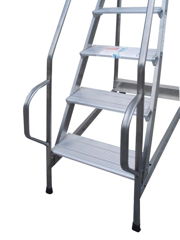 Scala a palchetto in acciaio e alluminio