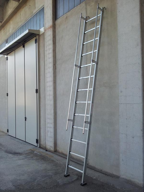 Scala professionale per Elettricisti, Imbianchini e Muratori - Scala in alluminio con corrimano