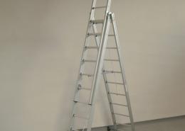Scala professionale per Elettricisti, Imbianchini e Muratori - Scala a sfilo in alluminio con fune a 2 o 3 elementi